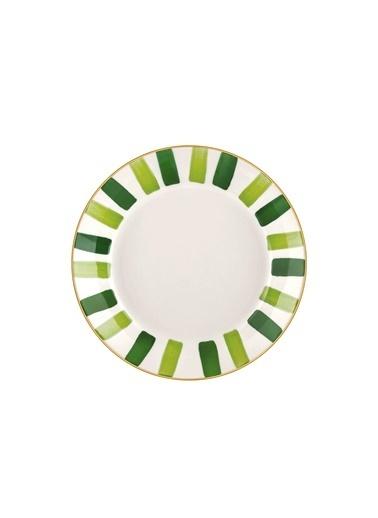 The Mia Fez Yemek Tabağı  - 6lı Set 20 Cm Yeşil Yeşil